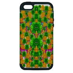Jungle Love In Fantasy Landscape Of Freedom Peace Apple iPhone 5 Hardshell Case (PC+Silicone)