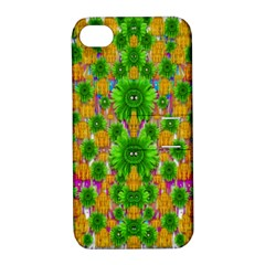 Jungle Love In Fantasy Landscape Of Freedom Peace Apple Iphone 4/4s Hardshell Case With Stand