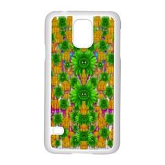 Jungle Love In Fantasy Landscape Of Freedom Peace Samsung Galaxy S5 Case (White)