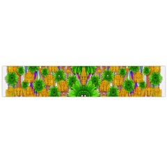 Jungle Love In Fantasy Landscape Of Freedom Peace Flano Scarf (Large)