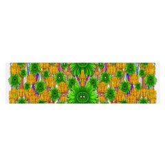 Jungle Love In Fantasy Landscape Of Freedom Peace Satin Scarf (oblong)