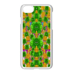 Jungle Love In Fantasy Landscape Of Freedom Peace Apple Iphone 7 Seamless Case (white)