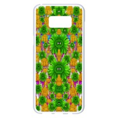 Jungle Love In Fantasy Landscape Of Freedom Peace Samsung Galaxy S8 Plus White Seamless Case
