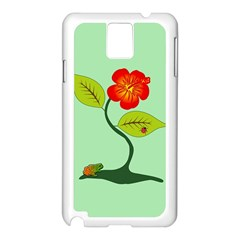 Plant And Flower Samsung Galaxy Note 3 N9005 Case (White)