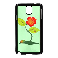 Plant And Flower Samsung Galaxy Note 3 Neo Hardshell Case (Black)