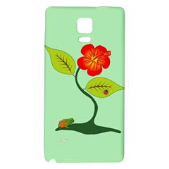 Plant And Flower Galaxy Note 4 Back Case