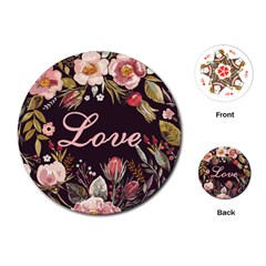 Love Playing Cards Single Design (round)