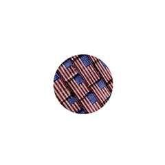 Usa Flag Grunge Pattern 1  Mini Buttons