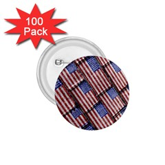 Usa Flag Grunge Pattern 1.75  Buttons (100 pack)