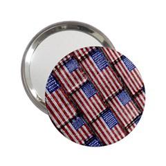 Usa Flag Grunge Pattern 2.25  Handbag Mirrors