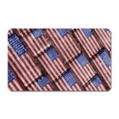 Usa Flag Grunge Pattern Magnet (Rectangular)