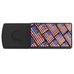 Usa Flag Grunge Pattern USB Flash Drive Rectangular (2 GB)