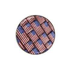 Usa Flag Grunge Pattern Hat Clip Ball Marker (10 pack)