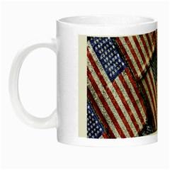Usa Flag Grunge Pattern Night Luminous Mugs
