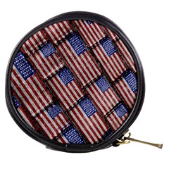 Usa Flag Grunge Pattern Mini Makeup Bags