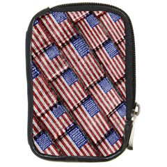 Usa Flag Grunge Pattern Compact Camera Cases