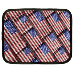 Usa Flag Grunge Pattern Netbook Case (XXL)