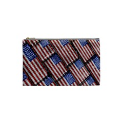 Usa Flag Grunge Pattern Cosmetic Bag (Small)