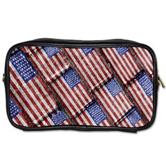 Usa Flag Grunge Pattern Toiletries Bags 2-Side