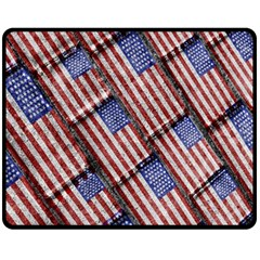 Usa Flag Grunge Pattern Fleece Blanket (Medium)