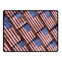 Usa Flag Grunge Pattern Fleece Blanket (Small)