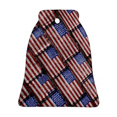Usa Flag Grunge Pattern Ornament (Bell)