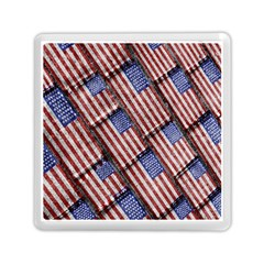 Usa Flag Grunge Pattern Memory Card Reader (Square)