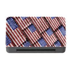 Usa Flag Grunge Pattern Memory Card Reader with CF