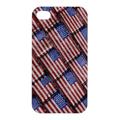Usa Flag Grunge Pattern Apple iPhone 4/4S Premium Hardshell Case