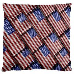 Usa Flag Grunge Pattern Large Cushion Case (One Side)