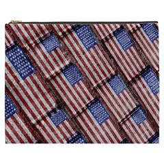 Usa Flag Grunge Pattern Cosmetic Bag (XXXL)