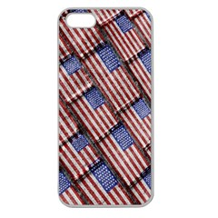 Usa Flag Grunge Pattern Apple Seamless iPhone 5 Case (Clear)