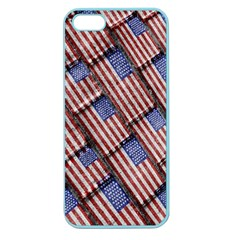 Usa Flag Grunge Pattern Apple Seamless iPhone 5 Case (Color)