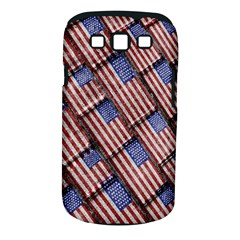 Usa Flag Grunge Pattern Samsung Galaxy S III Classic Hardshell Case (PC+Silicone)