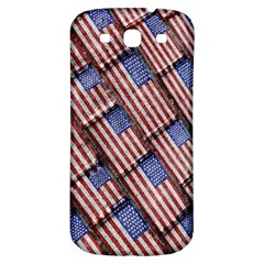 Usa Flag Grunge Pattern Samsung Galaxy S3 S III Classic Hardshell Back Case