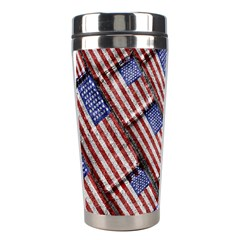 Usa Flag Grunge Pattern Stainless Steel Travel Tumblers