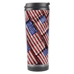 Usa Flag Grunge Pattern Travel Tumbler