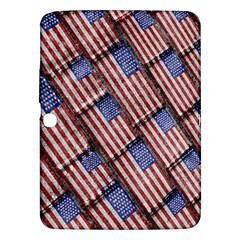 Usa Flag Grunge Pattern Samsung Galaxy Tab 3 (10.1 ) P5200 Hardshell Case