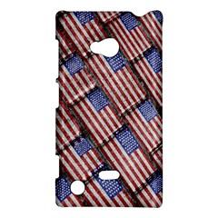 Usa Flag Grunge Pattern Nokia Lumia 720