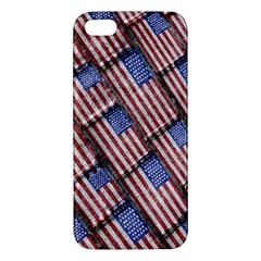 Usa Flag Grunge Pattern iPhone 5S/ SE Premium Hardshell Case