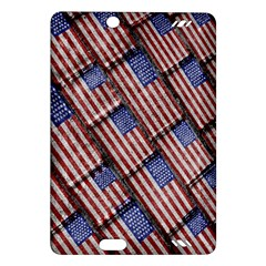 Usa Flag Grunge Pattern Amazon Kindle Fire HD (2013) Hardshell Case