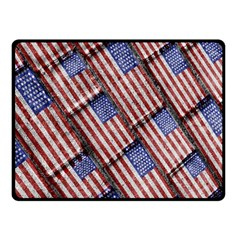 Usa Flag Grunge Pattern Double Sided Fleece Blanket (Small)