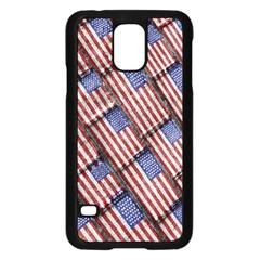 Usa Flag Grunge Pattern Samsung Galaxy S5 Case (Black)