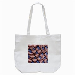 Usa Flag Grunge Pattern Tote Bag (White)