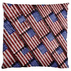 Usa Flag Grunge Pattern Standard Flano Cushion Case (Two Sides)