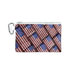 Usa Flag Grunge Pattern Canvas Cosmetic Bag (S)