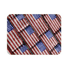 Usa Flag Grunge Pattern Double Sided Flano Blanket (Mini)