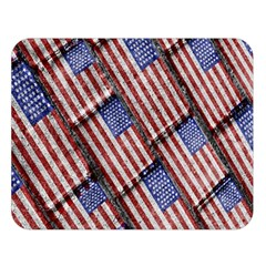 Usa Flag Grunge Pattern Double Sided Flano Blanket (Large)