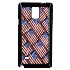 Usa Flag Grunge Pattern Samsung Galaxy Note 4 Case (Black)