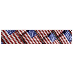 Usa Flag Grunge Pattern Flano Scarf (Small)
